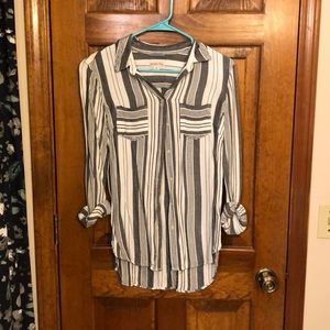 Striped Button Up